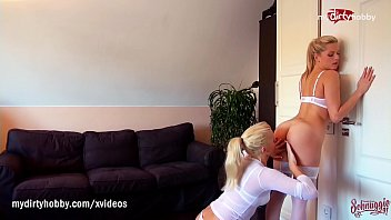 MyDirtyHobby - Horny blonde Milfs almost caught in lesbian act