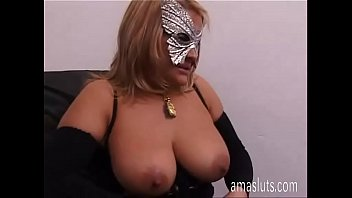 Naughty blonde in sexy boots jerks off her pussy in office