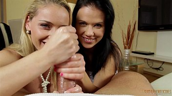 hand job by two sexy girl preview image