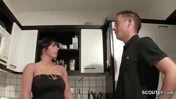 Horny German MILF needs sex and fucks with him 13 min