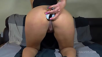 Gape training with Queen Eugenia. Anal speculum and huge plug QE045