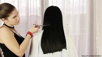 Girl has her hair cut as punishment for using her sister's hairbrush