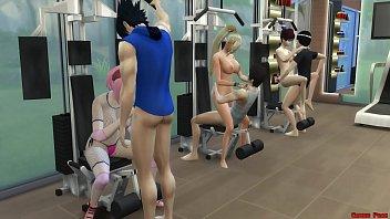 Hinata, Sakura, Ino and Tenten Fucked Doing Exercises Erotic Costume Hot Wives