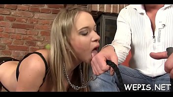 Kinky gal and her boyfriend make pissing in a process