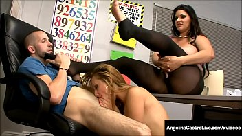 Cuban BBW Angelina Castro Shares Dick With Tara Lynn Holmes!