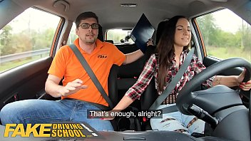 Fake Driving School Hot learner Kristy Black fucked doggy style Image