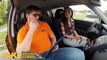 Fake Driving School Hot learner Kristy Black fucked doggy style