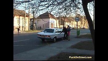 Busty Teen Backseat Taxi Sex