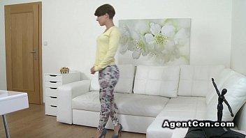 Beautiful figure babe fucks fake agent in casting