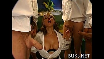 Blow group sex with thick jizzum