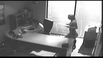 Security camera sex in alley Secretary fucking her co-worker hidden camera