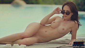 Bikini centerfolds German milf babe with nice big tits bianka helen strips