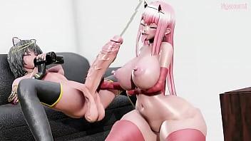 Futanari Hentai การ์ตูนอนิเมะ18+ แนวผู้หญิงมีควย ทรงเหมือนกะเทยบ้ากาม จับคู่สาวเย็ดหีขาถ่าง กะเทยเย็ดหญิงจนน้ำแตก