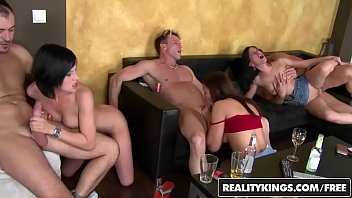 Euro Sex orgy Party with three hot couples gets - Reality Kings