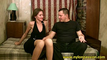 Hard pantyhose - Mauricio fulfills his pantyhose dream