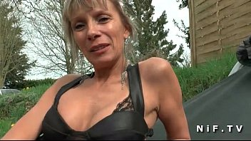 Big Boobed French Cougar Hard Anal Fucked By A Young Guy