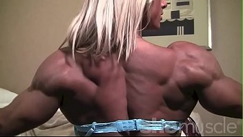 Ripped Female Bodybuilder Shows Off Her Body