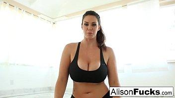 Alison Tyler works a dildo