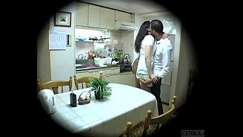 Subtitled Japanese homestay gone wrong host mom blowjob thumbnail