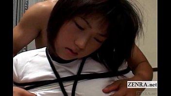 Subtitled Uncensored Bound Japanese Schoolgirl Teasing