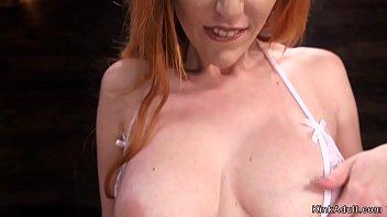 Natural huge tits redhead bangs machine