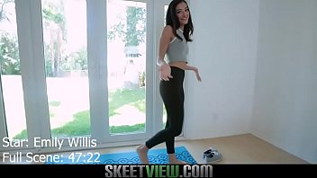 Petite Teen Emily Willis Does Naked Yoga Then Has POV Sex And Licks Up Hot Cum After A Facial