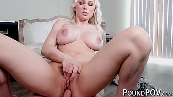 Exotic blonde Kenzie Taylor fucked reverse cowgirl after BJ