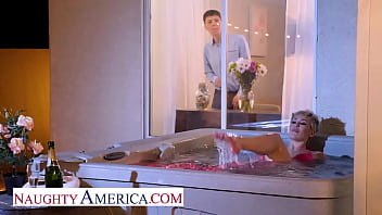Naughty America - Hot Milf Ryan Keely Catches Her Son's Friend Peeping On Her, So She Gives Him What He Wants!
