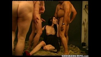 Real Amateur Teen Slut gets a Gangbang preview image