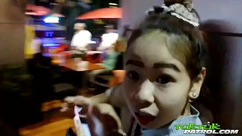 Thai sex tour Big tits thai babe showing off and earning a creampie pussy