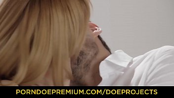 FACE STRAPPED - Beauties Izzy Delphine and Anny Aurora cum hard in fetish FFM fuck 10 min
