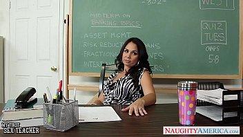 Busty teacher Holly West fuck in classroom