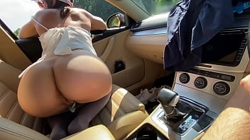 Extreme Rimming In The Car - Molly And Twice Older Guy
