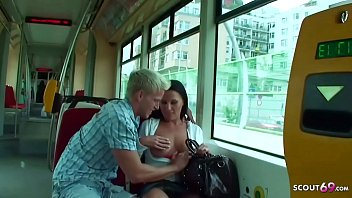 Big Tits Teen Pickup and Public Sex in Train by Huge Cock