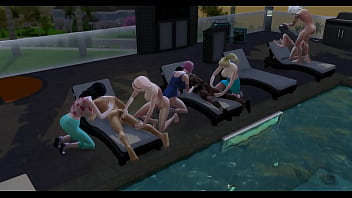 Boruto Cap 4 pool party ends in a great orgy the perverted sage fucks hinata the way he likes giving her ass so hard that she cries like a whore 15 min