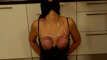 amazing tit torture for hot slave girl