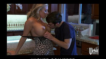 Prevent wet dreams Stunning blonde samantha saint cums on her kitchen counter