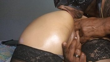 latina wife teased tongue in ass by Negro Libre