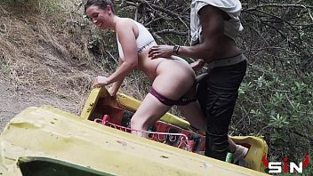 White girl gets caught fucking a Black Guy on a Hike (IG-Sevyanharden 3x Twitter Sevyanharden)