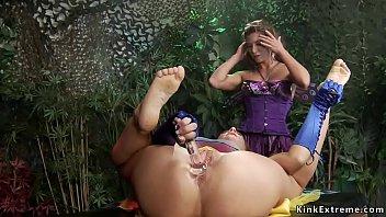 Lesbian faery anal toys and fucks babe