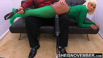 I Hate Spanking My Step Daughter Ass When She Misbehave, But The Young Slut Needs Discipline, Sexy Ebony Brat Msnovember Submit To Booty Lashing By Aroused Step Dad, Laying Over His Lap With Hard Dick, Rubbing Her Anus Coochie & Rectum On Sheisnovembe