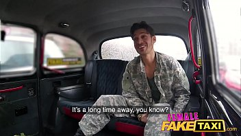 Female Fake Taxi Horny Soldiers Hot Sexy Blowjob And Double Cumshot