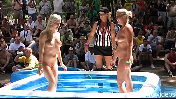 Valentines costumes for a nudist resort - Chicago amateurs oil wrestling at nudist resort