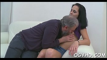 Nice-looking young gal fucked by old guy
