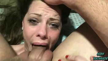 Cum gagging shot - Step daughter takes a choking slapping rough skull fuck for fathers day full shoot