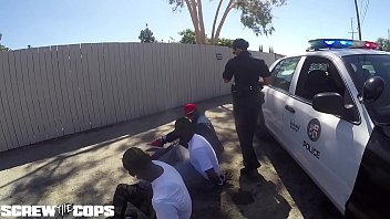 Screw the Cops  white female cop fucked by three BBC