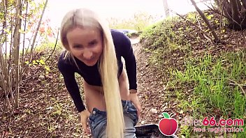 PETITE HORNY blonde Tania Swank BANGED in rain by random guy! ● (ENGLISH) Dates66.com