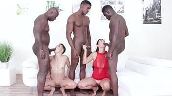 Janice United & Mika Bakhtiari two kinky bitches go crazy for black cocks IV424
