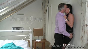 Crossdresser mature Mom mature milf takes charge of her man