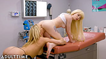 ADULT TIME - Kenzie Reeves Super Soaks Her MILF Doctor With Pussy Squirt!